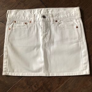 Lucky Brand White Jean Skirt Sz 2